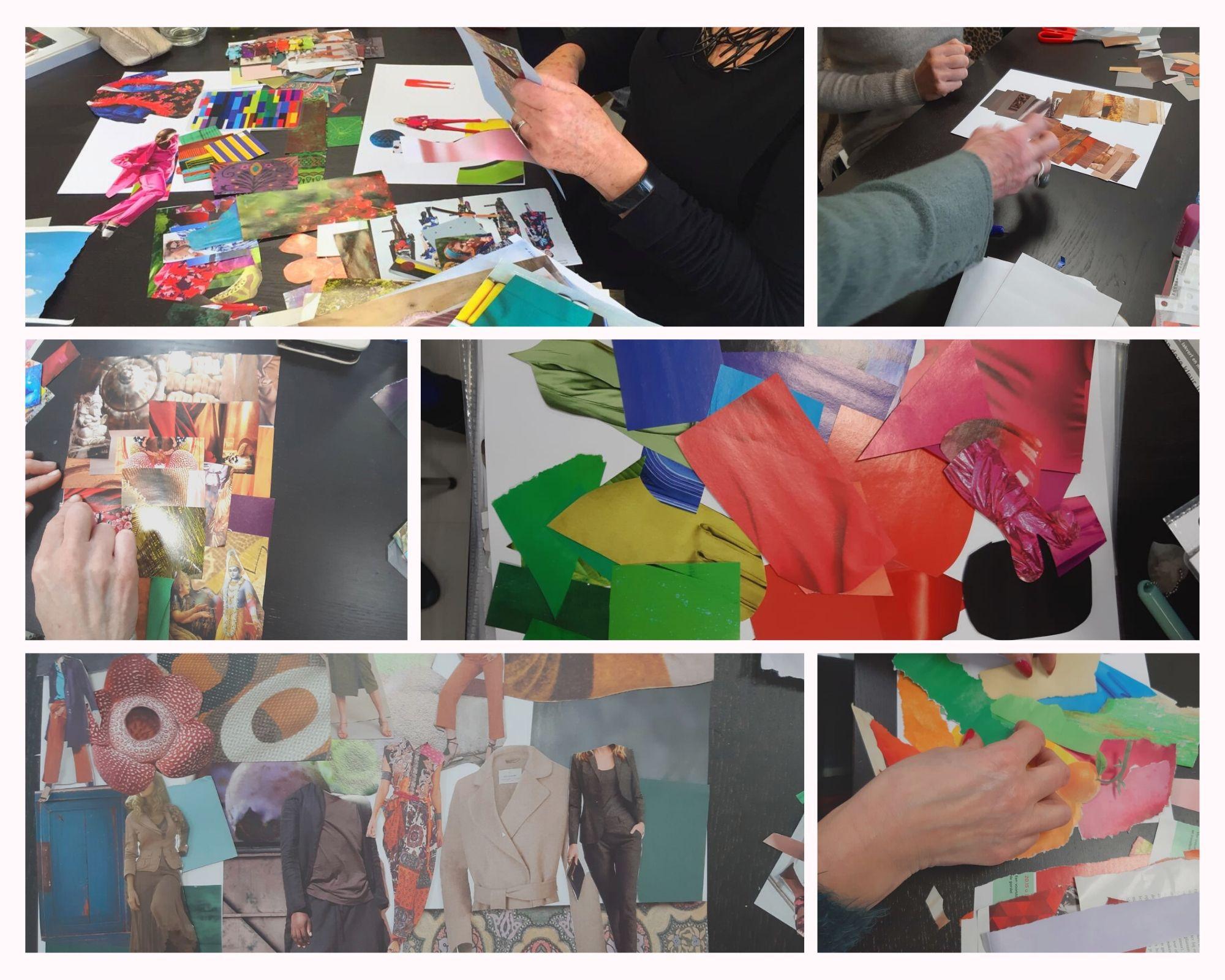 De collagedag van de Basisopleiding Kleur
